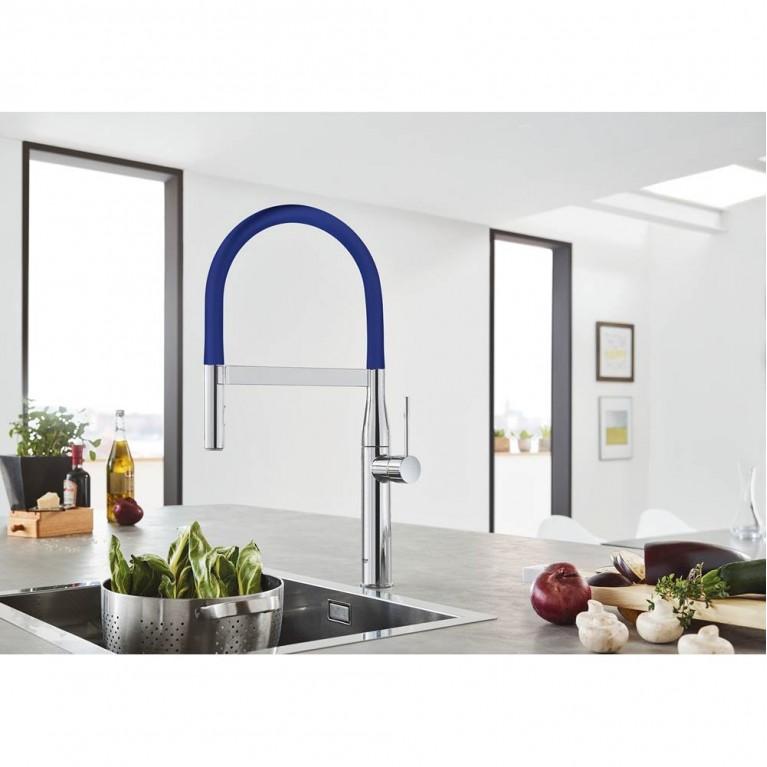 GROHFlexx Шланг гибкий с пружиной для смесителя на мойку, цвет синий 30321TY0, фото 2