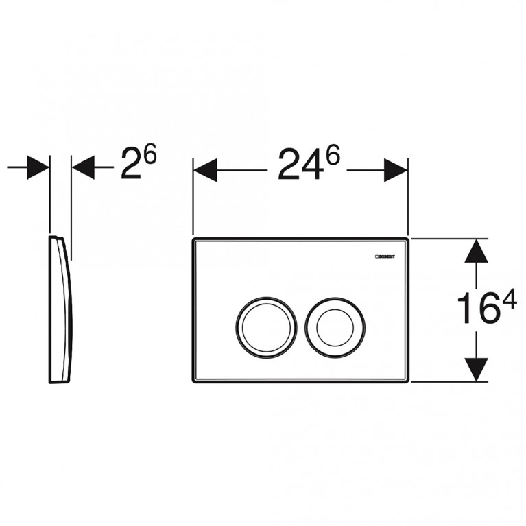 Delta 21 Смывная клавиша, пластик, хром глянц. 115.125.21.1