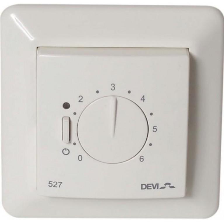 Devireg 527 без датчика температуры, пропорциональное управление, 15А, белый