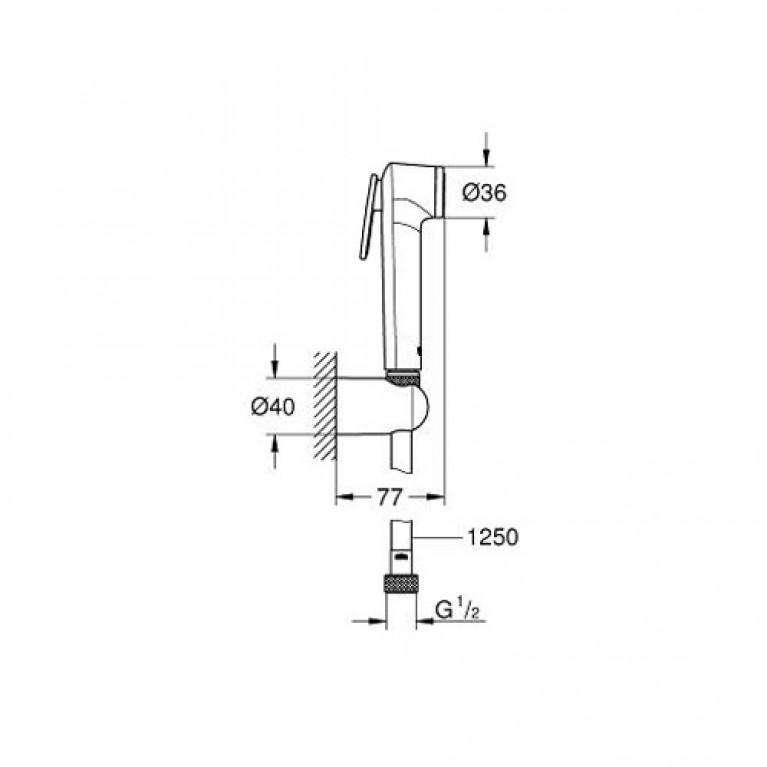 Tempesta-F Trigger Spray 30 Душевой набор с 1 режимом струи, белый/хром 26356IL0, фото 2