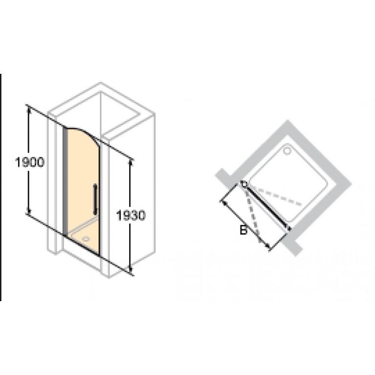DESIGN VICTORIAN Дверь распашная 90*190см (проф гл хром, стекло Anti-Plaque) DV0102092309, фото 3
