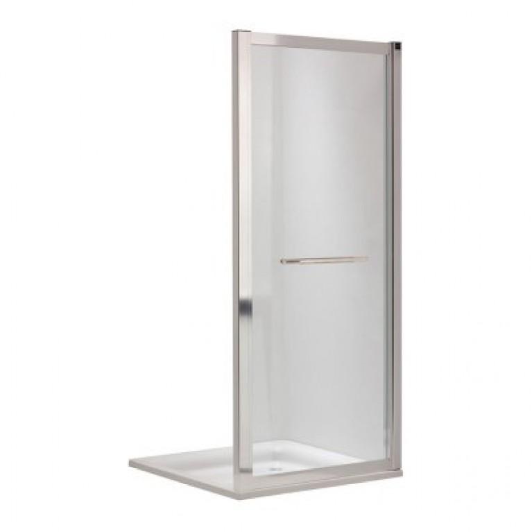 GEO 6 боковая стенка 90 см, для комплектации с раздвижными дверями Pilot и Bifold серебряный блеск, фото 1