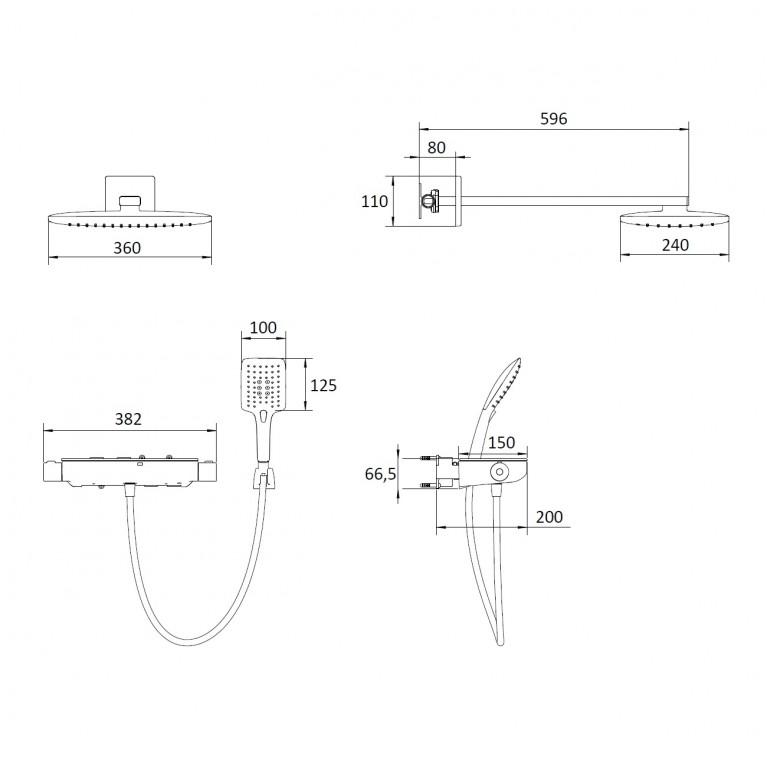 CENTRUM SQP комплект с термостатом VR-15610B, фото 2