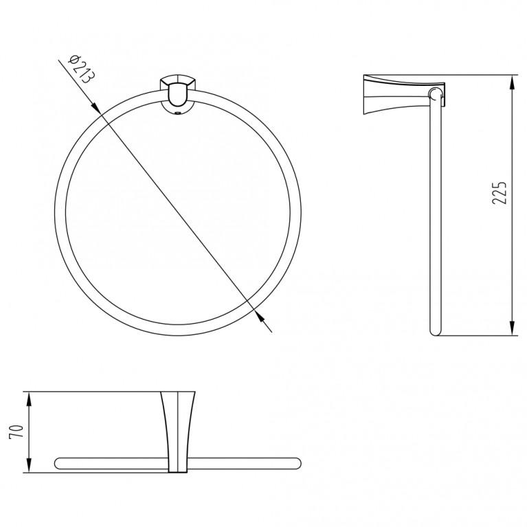 CUTHNA stribro полотенцедержатель (кольцо) 130280 stribro, фото 2
