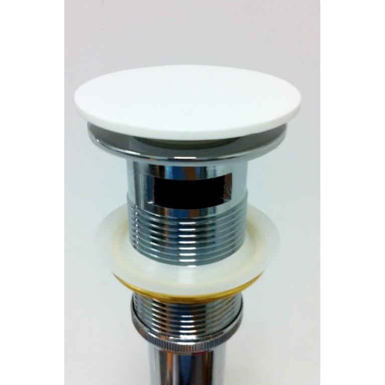 Сифон для мойки с переливом, донный клапан Solid surface