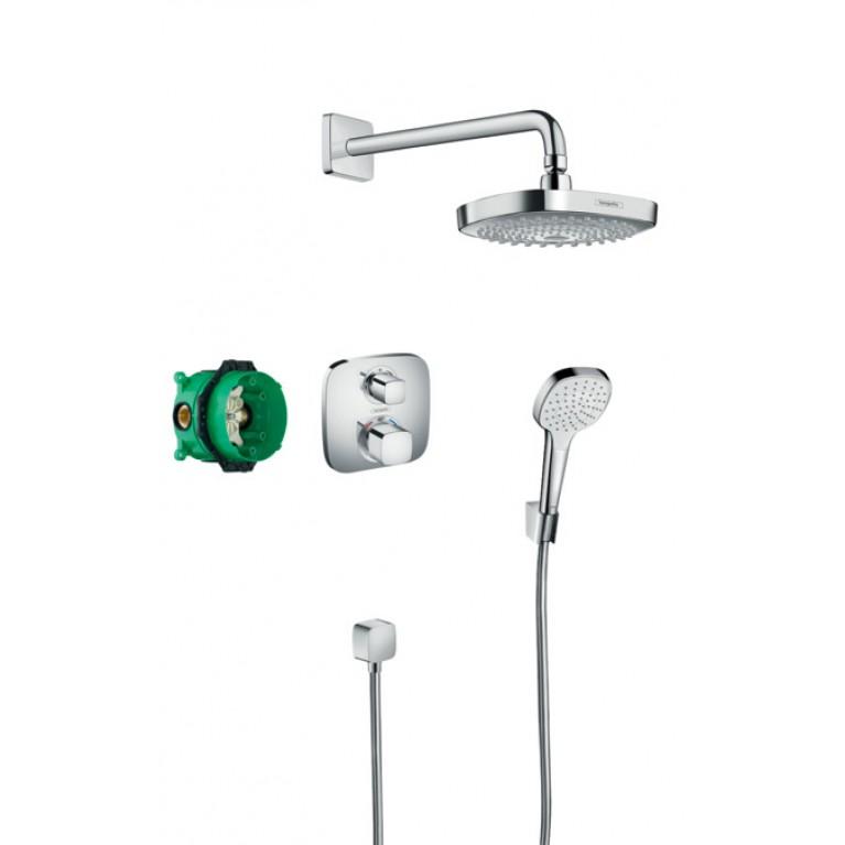ShowerSet Croma Select E/Ecostat E Душевой набор (верхний, ручной душ, ibox, термостат), фото 1