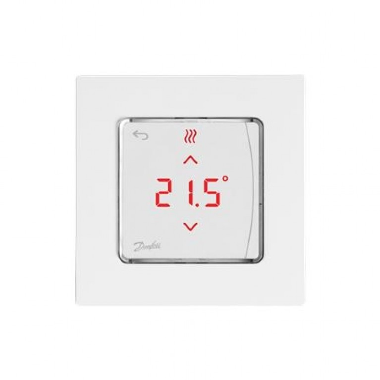 Danfoss Терморегулятор Icon RT Display On-Wall 0-40 °C, сенсорный, накладной, 24V