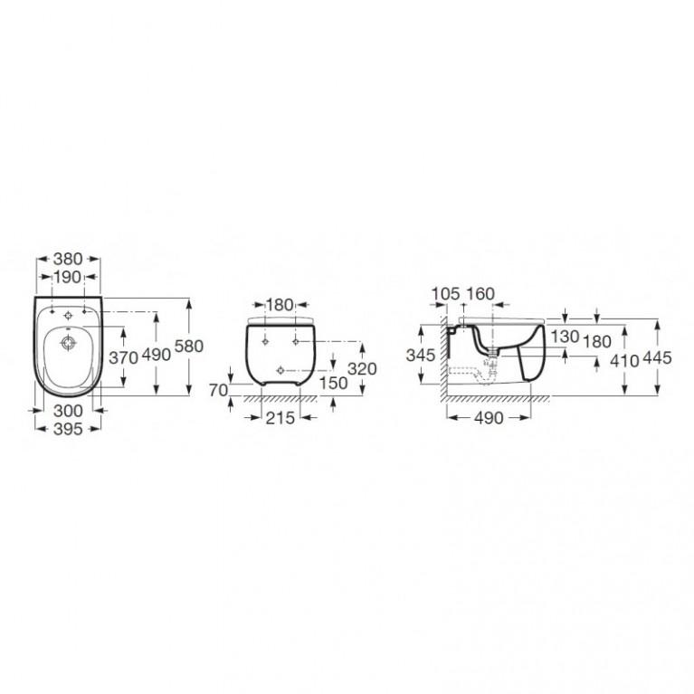 BEYOND Rimless чаша подвесного унитаза 58*38см A3460B7000, фото 2