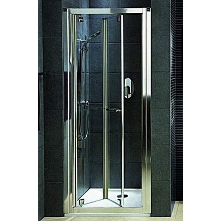 GEO6 двери в нишу bifold 80 см, стекло PRISMATIC, профиль серебряный блеск, фото 1