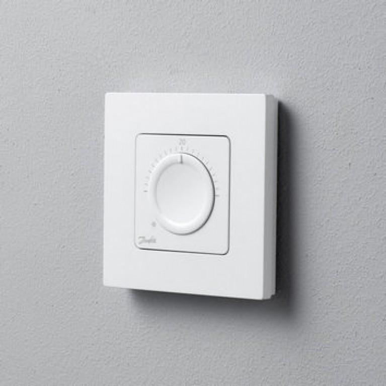 Danfoss Терморегулятор Icon Display, механический, 230V, 80 х 80мм, In-Wall, белый 088U1000, фото 2