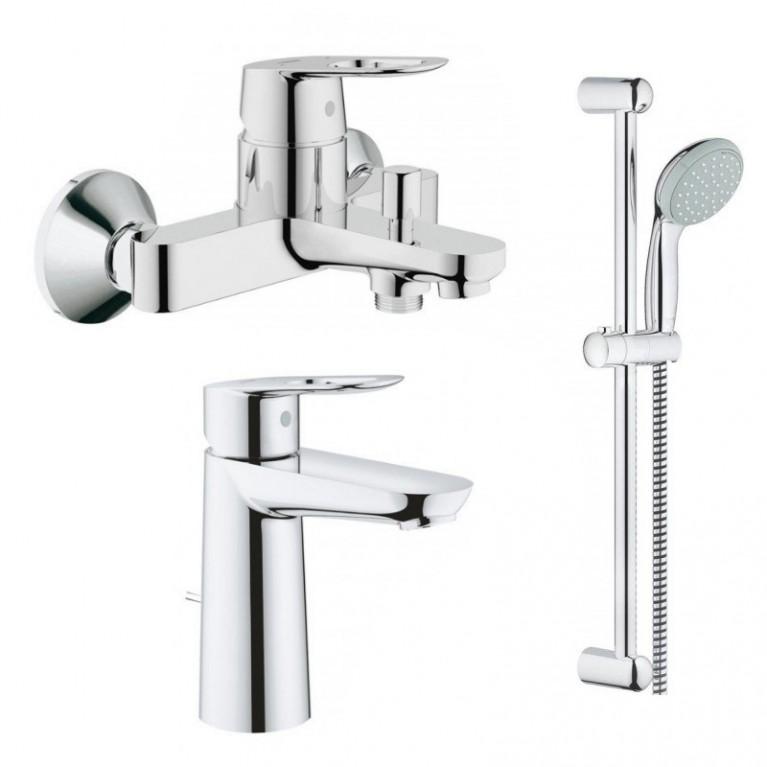 Bauloop набор смесителей для ванны (23762000+23603000+27598001)