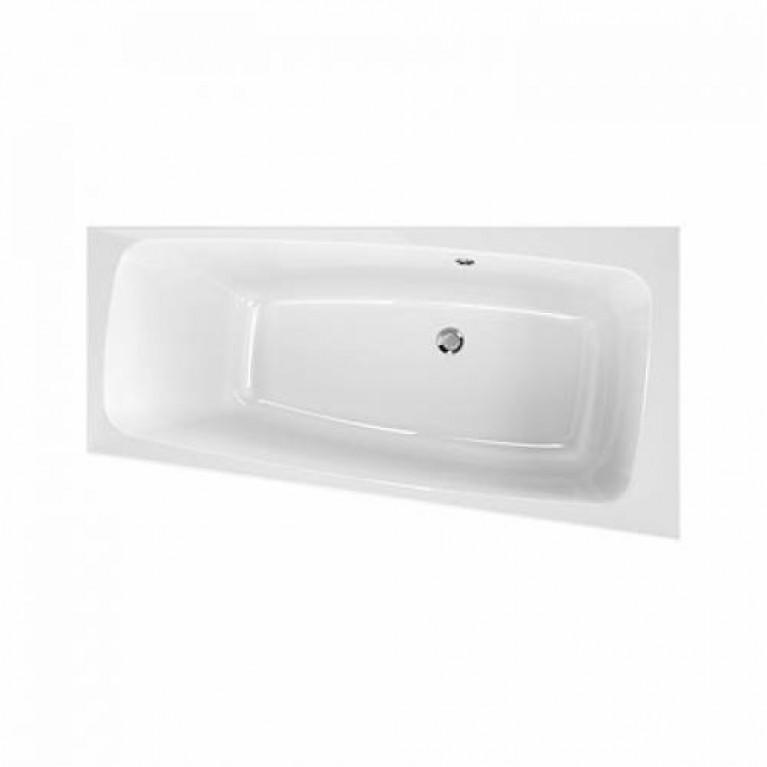 SPLIT ванна 150*80см, асимметричная, правая, центральный слив, с ножками, фото 1