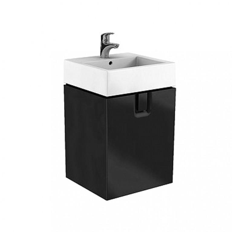 TWINS шкафчик под умывальник 50 см с дверцей, черный матовый