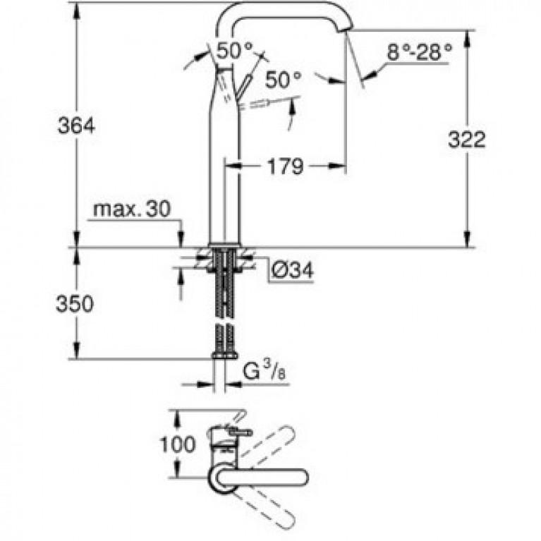 Essence New Смеситель для раковины, однорычажный, высокий 32901001