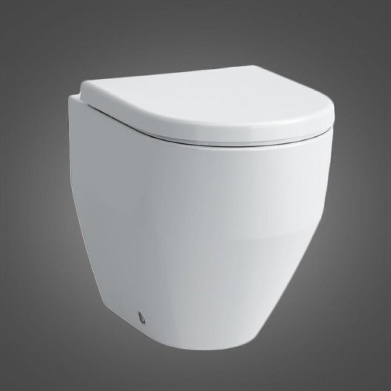 PRO чаша унитаза 360*530мм, монт. на полу, пристенная, смыв вертикальный, выпуск гориз./вертикальный, цвет белый мат