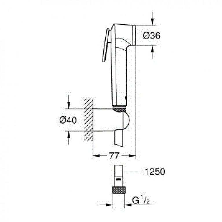 Tempesta-F Trigger Spray 30 Душевой набор с 1 типом струи, хром 27513001