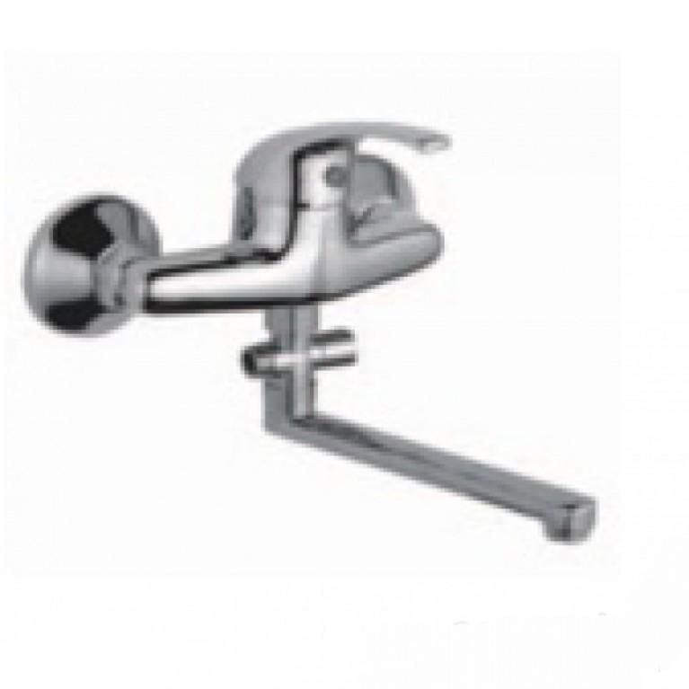 TOBIO смеситель для ванной  излив 35см (прямой), силумин, хром 35мм