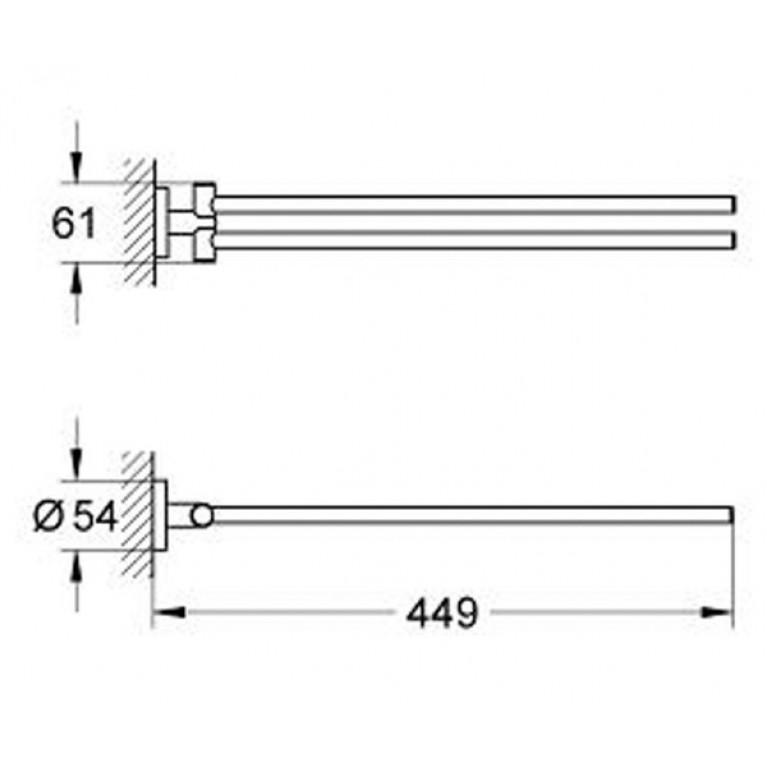 Essentials Полотенцедержатель 40371001, фото 2