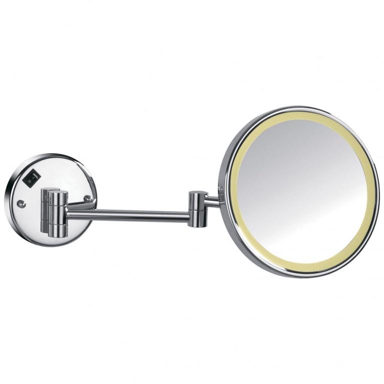 Зеркало косметическое, увеличение Х3, с подсветкой