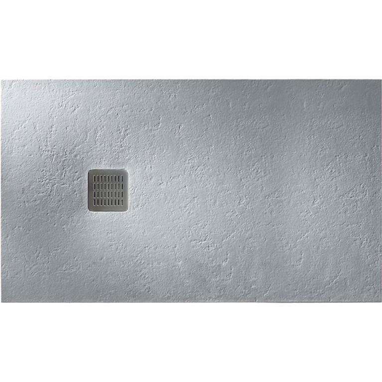 TERRAN поддон 160*90*3,1см, из искусств. камня STONEX, прямоугольный, с трапом и сифоном в комплекте, цвет цемент