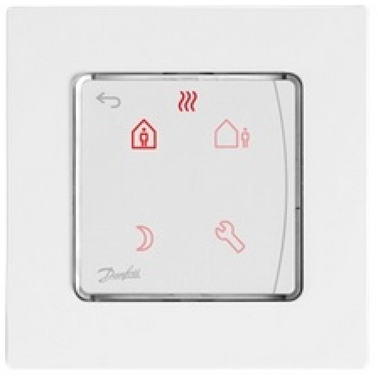 Danfoss Терморегулятор Icon Programm, электронный, сенсорный, программируемый, 230V, On-wall, белый