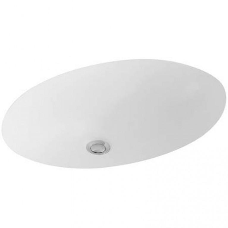 EVANA умывальник под столешницу 45,5*30,5см с переливом, White Alpin CeramicPlus, фото 1