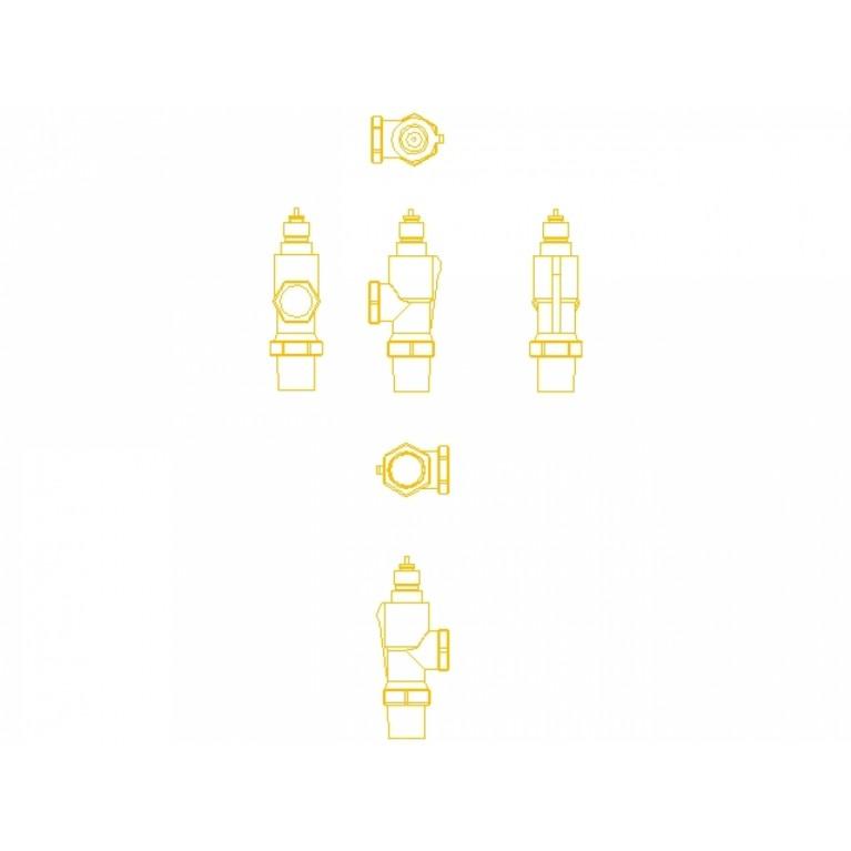 Danfoss Клапан RA-N 15 термостатический, осевой вх. 1/2 013G0153, фото 3
