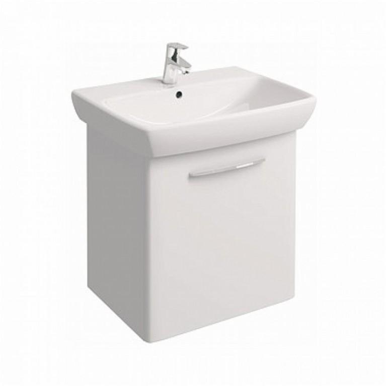 NOVA PRO комплект: умывальник 65 см  прямоугольный + шкафчик, белый глянец