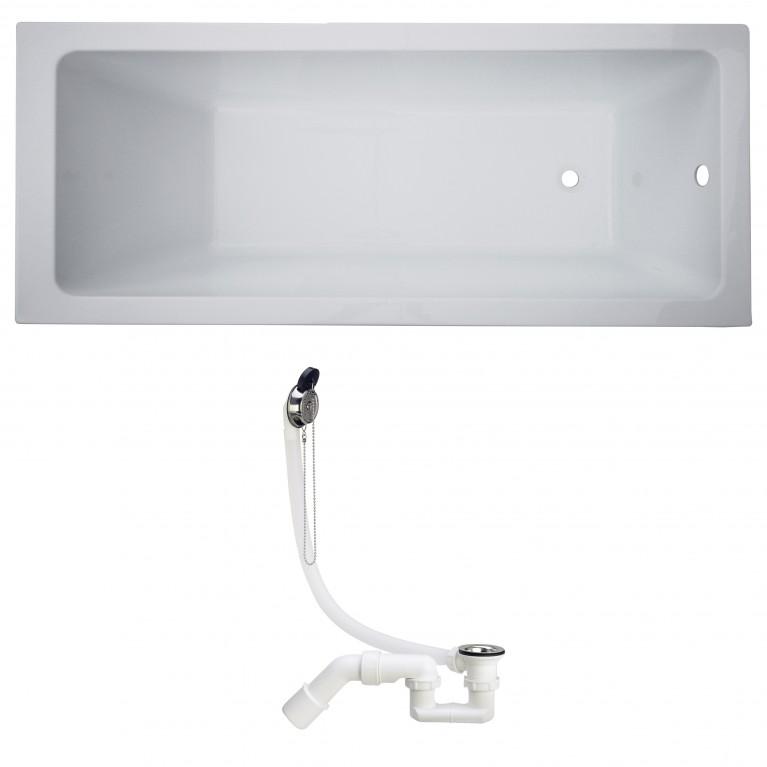 Комплект: LIBRА ванна без ножек + SIМРLЕX сифон для ванны