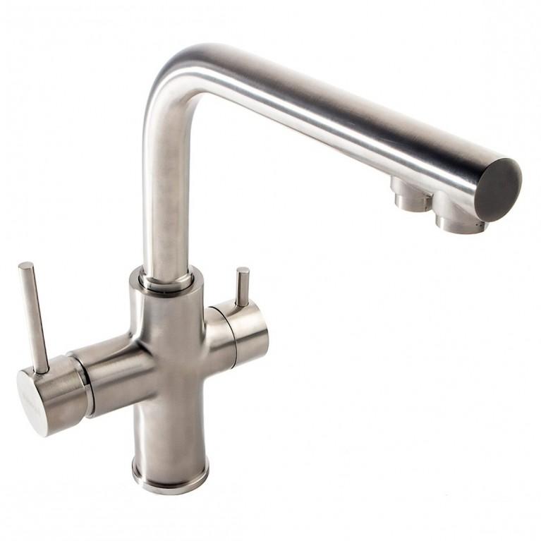 DAICY смеситель для кухни однорычажный с подключением питьевой воды, сатин 55009S-F, фото 3