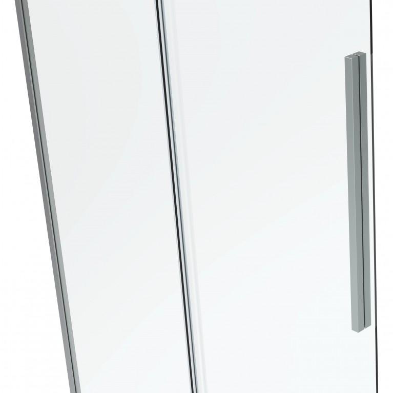 A LÁNY Душевая кабина квадратная 900*900*1950мм(стекла+двери), двери раздвижные, стекло прозрачное  6 мм, профиль хром 599-551/1, фото 3