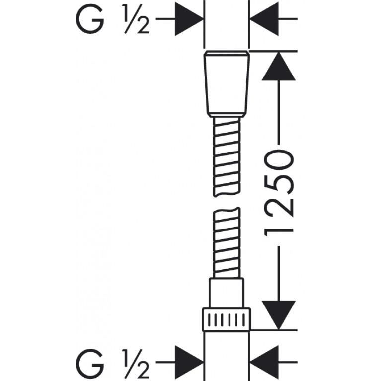 Metaflex Шланг душевой 1.25м 28262000