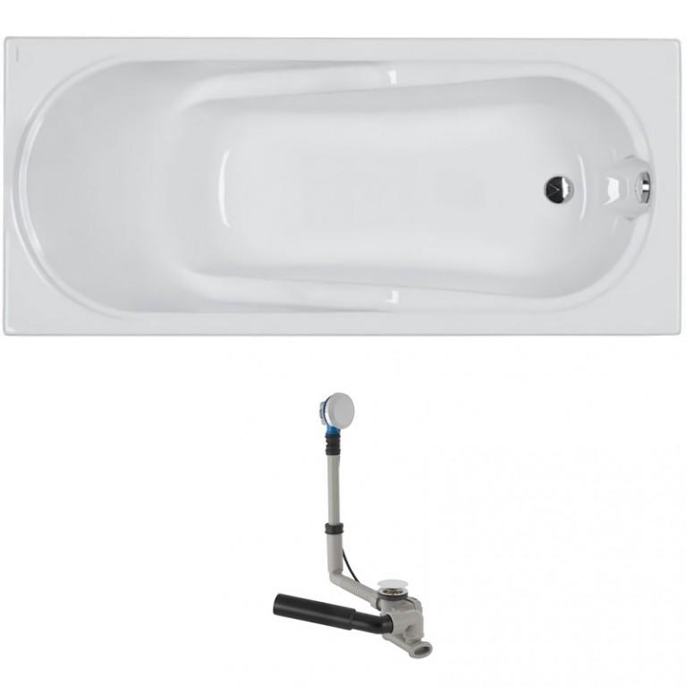 COMFORT ванна прямоугольная 160*75 см, в комплекте с сифоном Geberit 150.520.21.1, с ножками SN7, фото 1