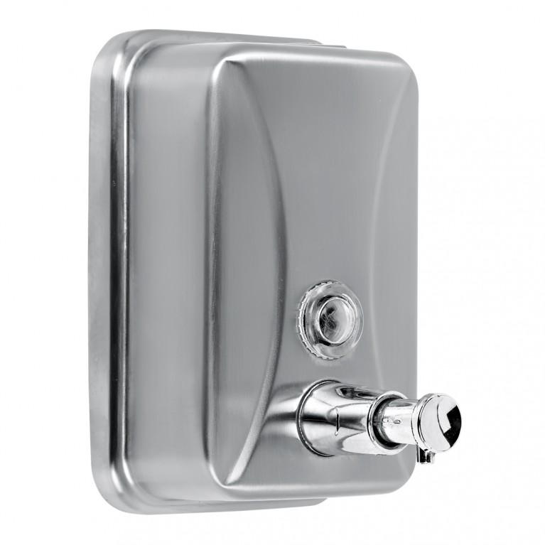 Дозатор жидкого мыла 500мл, металлический, хром