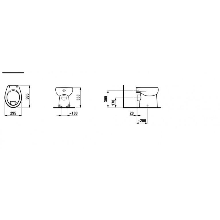 FLORAKIDS чаша унитаза 29,5*38,5см, напольная, смыв горизонтальный, выпуск горизонтальный H8220360000271, фото 2