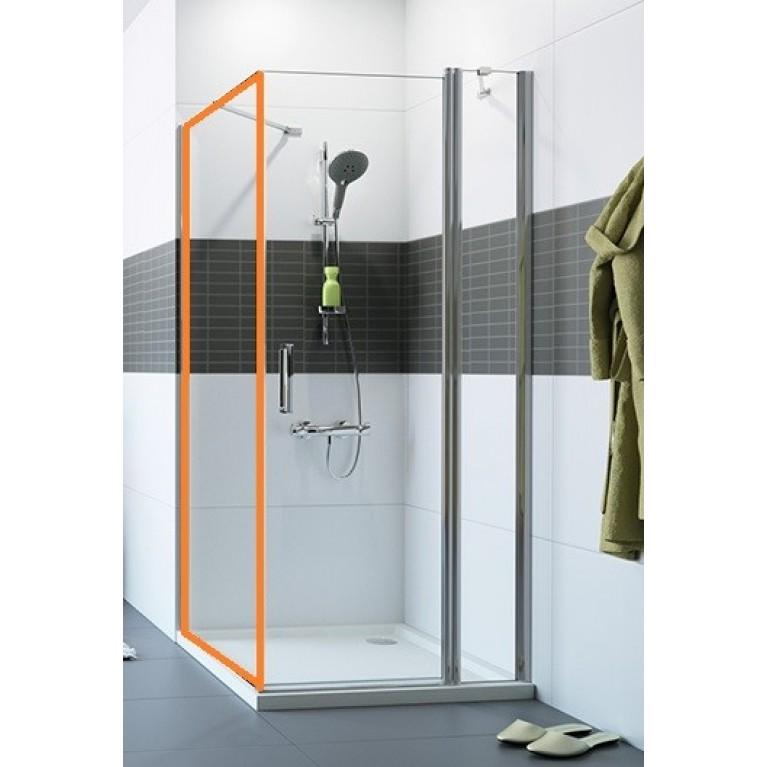 CLASSICS2 Стенка боковая для распашной двери 90*190см (цвет Серебро с ярким блеском + стекло прозр)