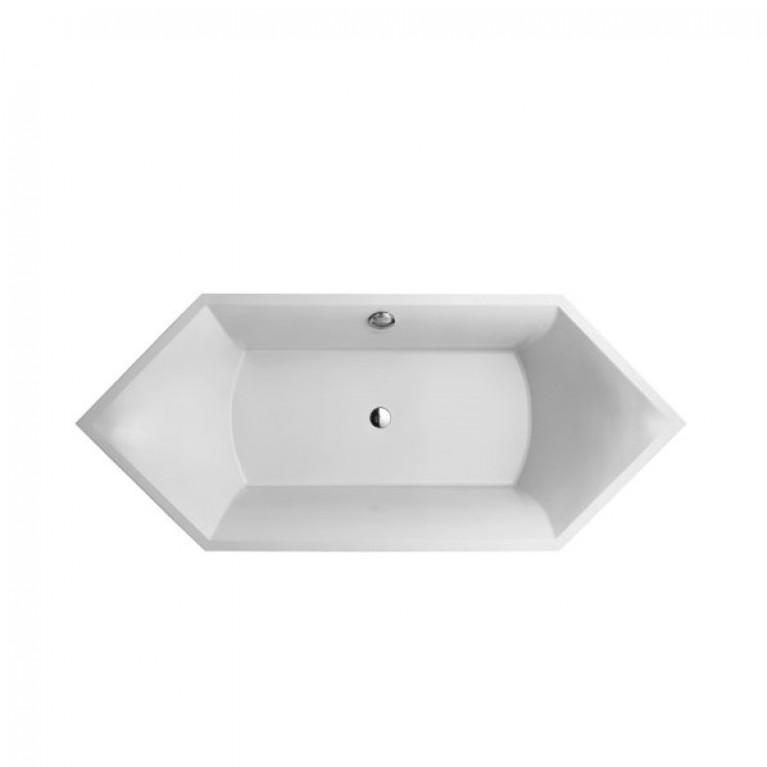 SQUARO ванна 190*80см, белый альпин
