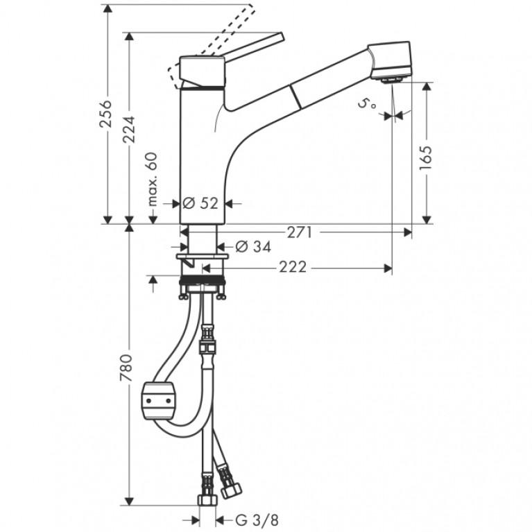 Talis S Смеситель для кухни, однорычажный 32841000, фото 2