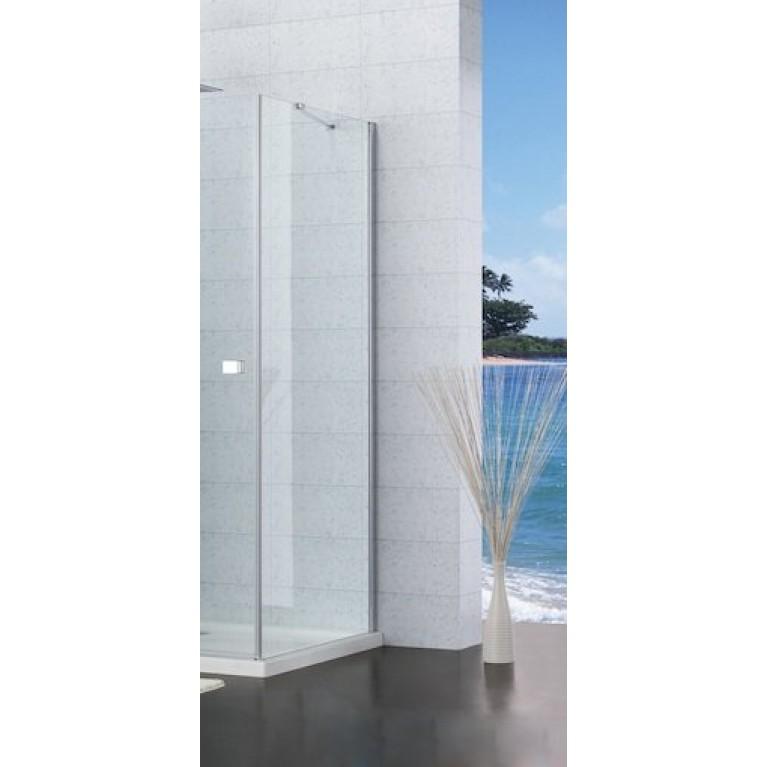 CAPITAL стенка 100*195см, алюмин. хром. профиль, с покрытием MaxiClean, с метал. кронштейном для прикрепления к стене AM4410012M, фото 2