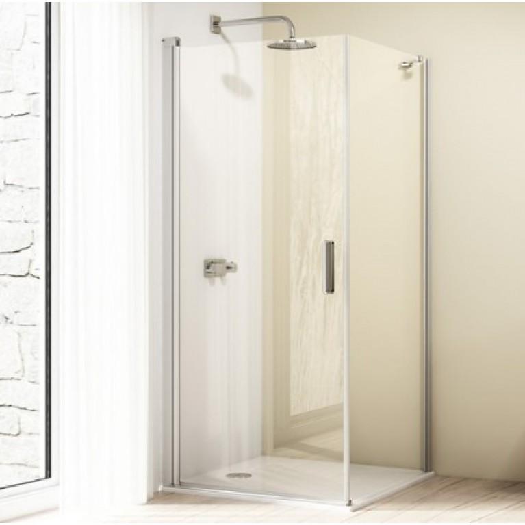 501DESIGN дверь  распашная  ST900 (профиль глянц хром, стекло прозр Anti Plaque)