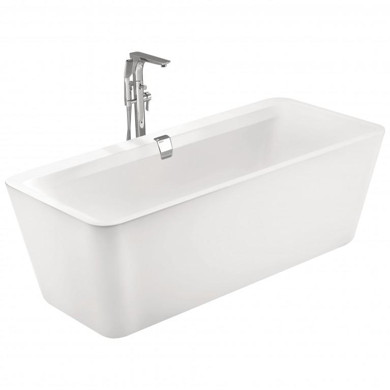 Ванна отдельно стоящая 1800*800*620мм, акриловая, слив-перелив, белая