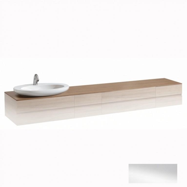 ALESSI ONE столешница 240*50*33см, для шкафчика, с вырезом для раковины слева, белый глянец