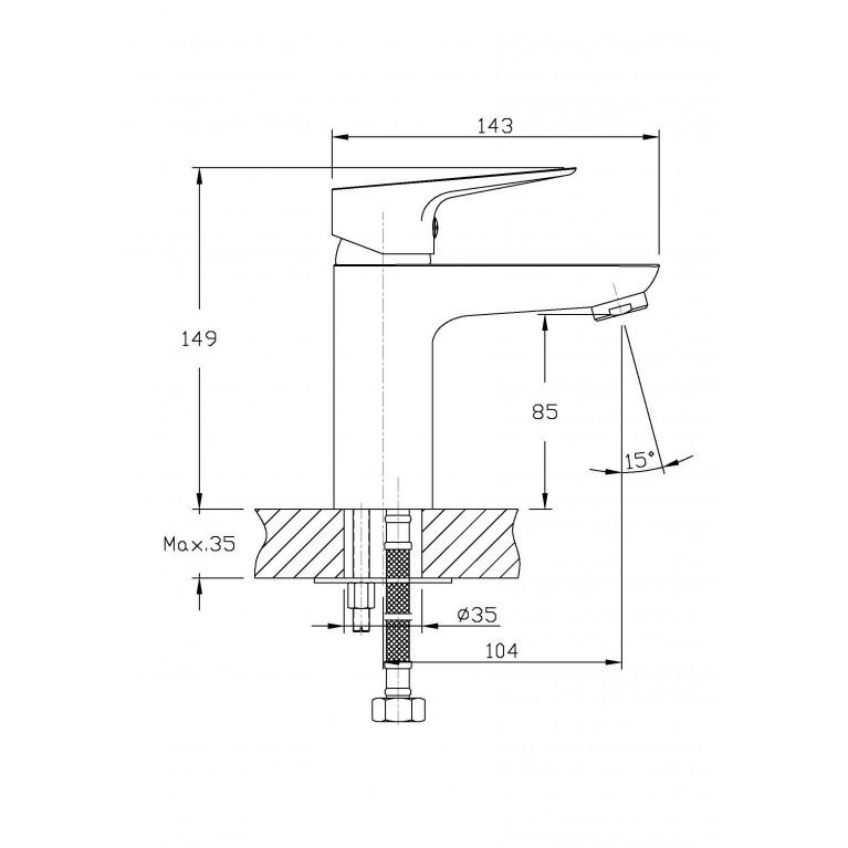 Набор смесителей(3 в 1) kit21082, душ kit21082, фото 5