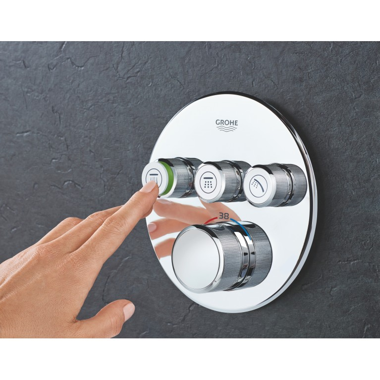 SmartControl Термостат для душа/ванны с 3 кнопками, накладная панель 29121000, фото 4