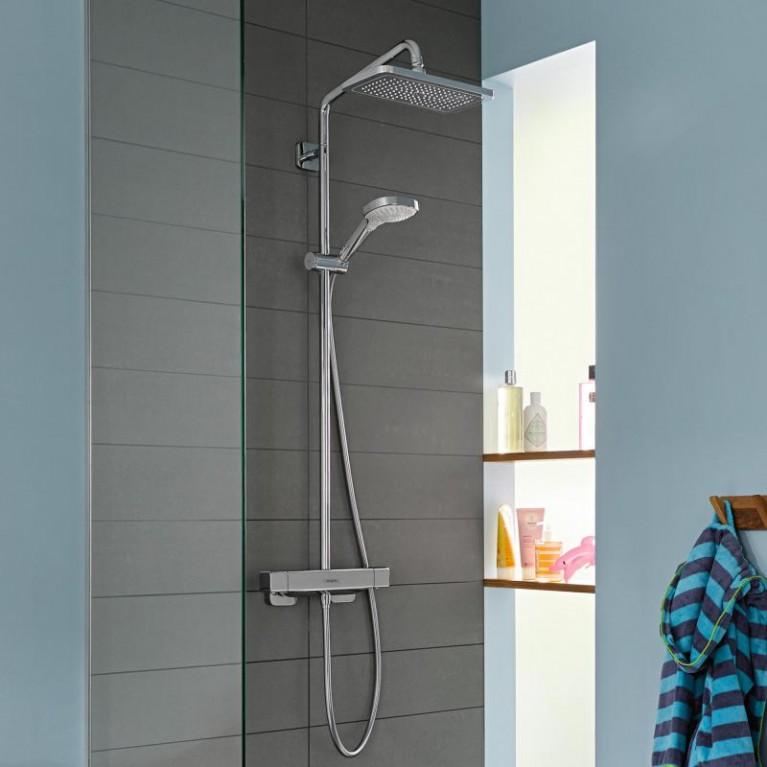 Croma E Showerpipe Душевая система 280 1jet, с термостатом, хром 27630000, фото 3