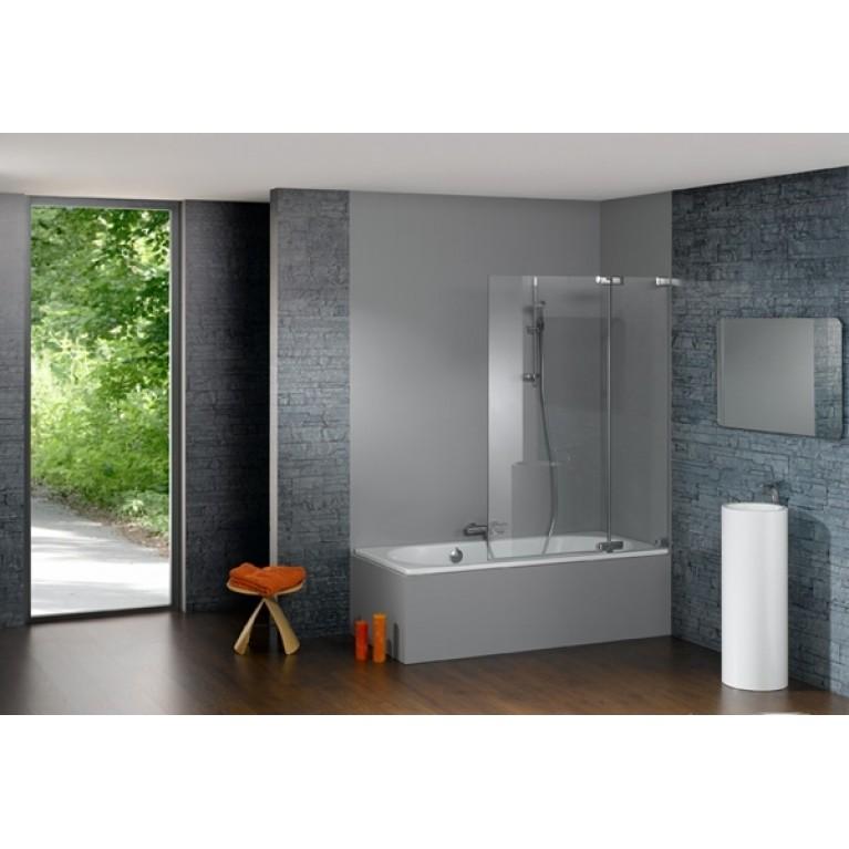 STUDIO PARIS шторка для ванны 100*150см (проф  хром, стекло прозр Antiplaque)