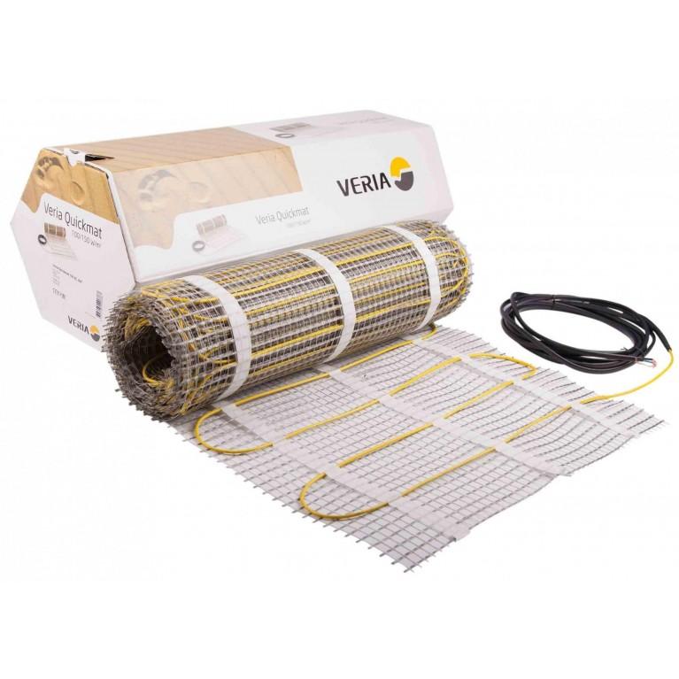 Мат нагревательный Veria Quickmat 150 2х жильный 7.0кв.м 1050W 0.5 х 14м 230V