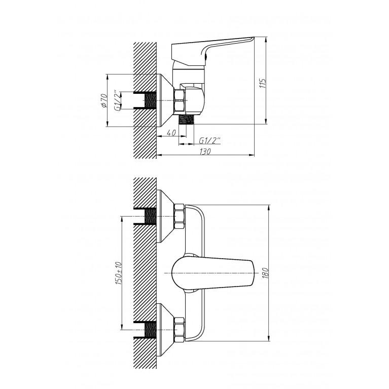 Набор смесителей(3 в 1) kit21082, душ kit21082, фото 4