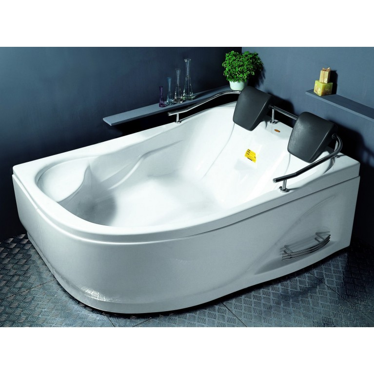 Ванна угловая без гидромассажа 1800*1240*660 мм, левая, (рама + ножки + лицевая панель)