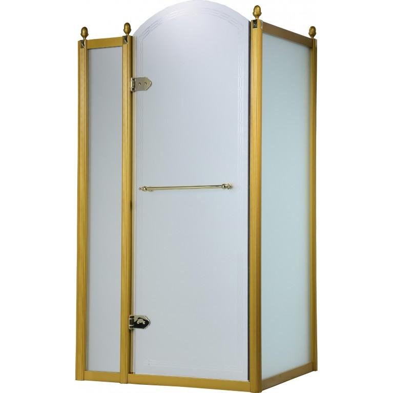 GRAND TENERIFE Gold Кабина с распашной дверью, в золоте, без поддона 1200*800*2000мм, левая, фото 1